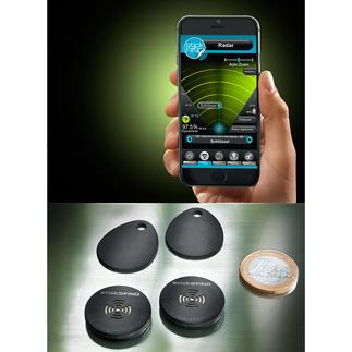 Stick-N-Find draadloze sticker, set van 2 Sleutelvinder en tevens elektronische lijn. Beschermt uw kostbaarheden tegen diefstal en verlies.