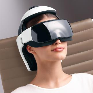 Hoofdmassageapparaat iDream3 Geniaal gecombineerd: hightech-massage voor hoofd, nek en gebied rond de ogen.