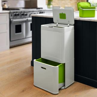 Afvalscheiding 'Intelligent Waste' Een compleet afvalscheidingsstation in een ruimtebesparende container.