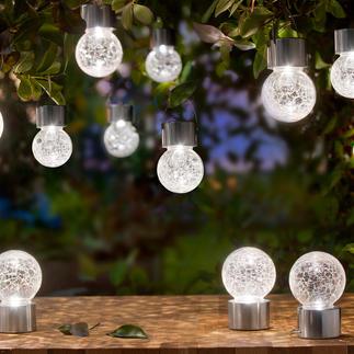 Crackle Balls Versier uw tuin of balkon met chic led-sfeerlicht. Werkt op zonne-energie. Op te hangen of neer te zetten.