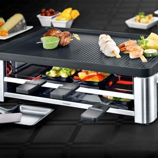 WMF combi-gourmetstel LONO Raclette, tafelgrill en crêpemaker in één elegant apparaat. Met toebehoren voor 8 personen.