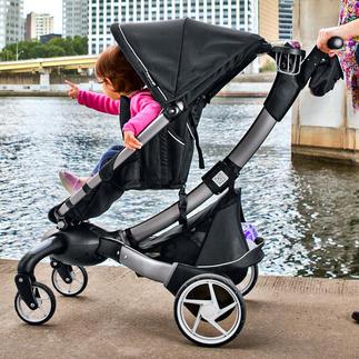 Origami™ comfort-kinderwagen/buggy De eerste elektrisch opvouwbare kinderwagen ter wereld. Met één druk op de knop.
