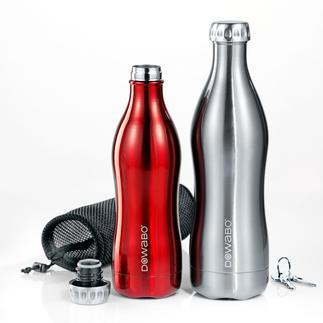DoWaBo® thermosfles Eindelijk een thermosfles voor koolzuurhoudend dranken. Dubbelwandig edelstaal in een trendy design.