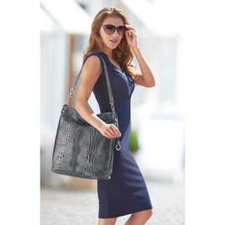 Leren buideltas 'kroko-look' Een 4x trendy leren tas voor een werkelijk charmante prijs.