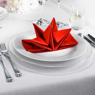 Origami-servetten Kunstig in een ster gevouwen servetten – met één handbeweging neergezet.
