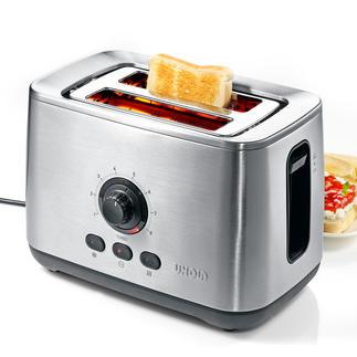 Unold turbo-toaster 'Eco' Ontdek de waarschijnlijk snelste toaster ter wereld. Gematteerd edelstaal en diepzwarte kunststof details.