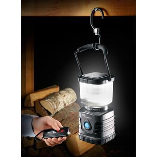 Dimbare lantaarn met 620 lumen Extra fel. Extra zuinig. Extra stevig. Afstandsbediening met geïntegreerde zaklamp.