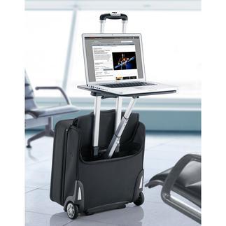 Business-trolley Traveldesk™ Uw oponthoud op luchthaven of een andere plek besteedt u voortaan nuttig en comfortabel.