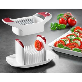 Zyliss® tomaten-/caprese-snijder Gemakkelijk en snel: mooie gelijke plakjes tomaat, mozzarella, ei, ...