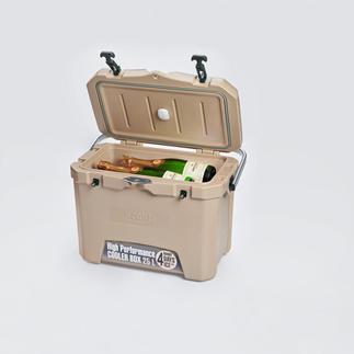 4-dagen-koelbox met temperatuursensor Houdt drankjes en levensmiddelen tot wel 4 dagen koel. Zonder stroom.  Zelfs als het buiten wel 32 °C warm is.