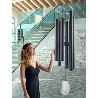 Gigantisch wind-klankspel Het waarschijnlijk grootste wind-klankspel. En zeker één van de mooiste in modern design.