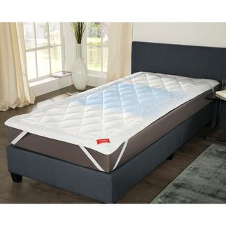 Hefel Cool-dekmatras Fris slaapcomfort – zelfs bij 30 °C: de doorgestikte dekmatras met geniaal Cool-vlies.