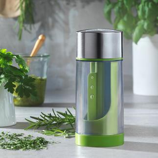 Microplane® kruidensnijder Vlijmscherp. Snijdt verse kruiden fijn, zonder te pletten. Eenvoudig, veilig en snel.