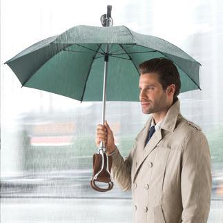 Zitstok-paraplu Drie functies in één: paraplu, elegante wandelstok – en een comfortabele zitmogelijkheid.