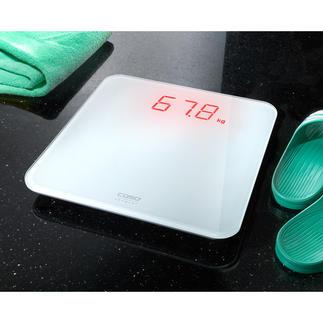 Caso personenweegschaal BS1 Zelfs op afstand moeiteloos afleesbaar. Weegt meet absoluut nauwkeurig. Zelfs op tapijtvloeren.