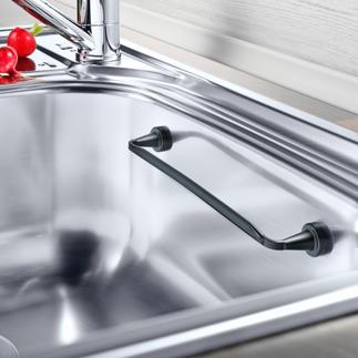 Magnetische vaatdoekhouder Past in elke wasbak en blijft magnetisch zitten. Zelfs in een hoek.