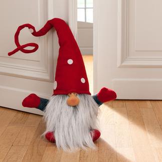 Kerstkabouter Julenisse In de hal, op de trap, in woonkamer of keuken, ... of als deurstopper.