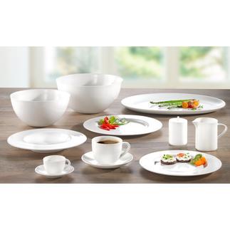 Bone China-servies 'À-Table' Dek uw tafel met porselein van SWISS Air First Class.