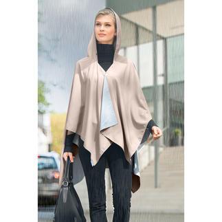 Pocket-regenponcho Zo stijlvol kan beschermende regenkleding zijn.