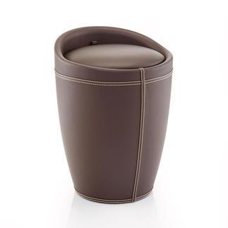 Hocker met opbergruimte Elegante look, heerlijk zacht zitcomfort en een onzichtbare opbergruimte van 20 l. Met uitneembare waszak.