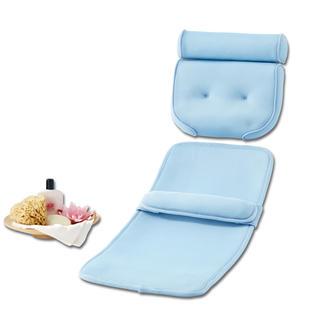 Comfortset voor bad, kussen + mat Comfortabel verdikte en waterdoorlatende set. Ondersteund hoofd, nek, schouders, rug, billen, etc.