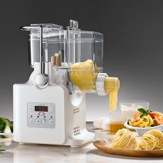 Pastamachine met droogfunctie Mixt, kneedt, vormt en zorgt ervoor dat de pastaslierten niet aan elkaar plakken.