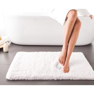 Zachte badmat Heerlijk zachte badmat met visco-elastische schuimvulling. Ademend en antimicrobieel.