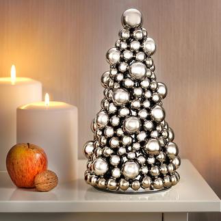 Kerstballenboom Traditionele kerstdecoratie in een modern jasje.