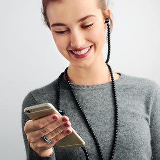Trendy headset Trendy modeaccessoire: de in-ear-koptelefoon met ketting in plaats van snoer.