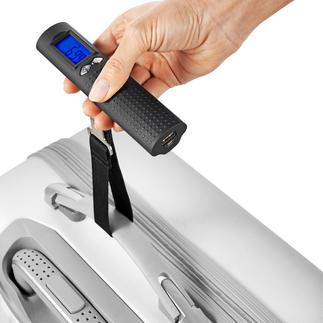 Digitale accu-bagageweegschaal Digitale bagageweegschaal, powerbank en zaklamp – slechts 200 gram.