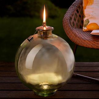 Glazen bolfakkel Decoratieve glazen bol. XXL-tuinfakkel. En een prachtige decoratie voor in huis.