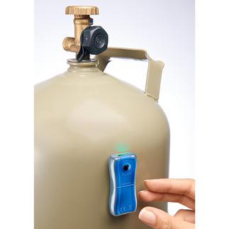 Gasniveau-indicator Altijd bij de hand: deze precieze indicator laat u binnen enkele seconden de resterende voorraad zien.