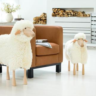 Schaap in levensgroot formaat Design-object, zitplek, schattige huisgenoot: schaapfiguren in levensgroot formaat.