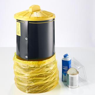 Afvalzakton Eindelijk ruimtebesparend afval recyclen, hygiënisch en optimaal samengeperst.
