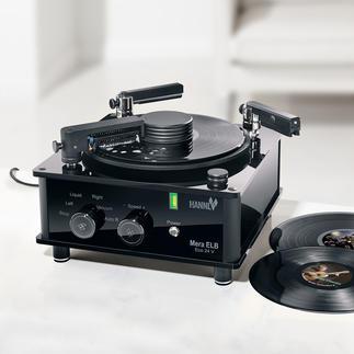 Platenwasser Mera ELB Eco 24 V Reinigt oude en nieuwe vinylplaten zeer grondig, maar heel voorzichtig. Voor een optimaal geluid.