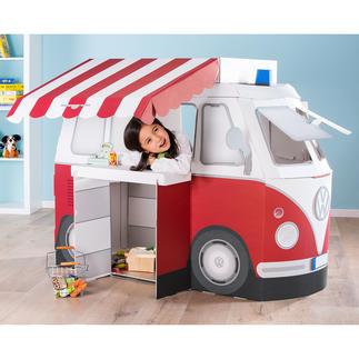 Kampini speelbus Droomspeelgoed voor iedereen vanaf 3 jaar: de Volkswagenbus om mee te spelen, in te slapen of in te kamperen.