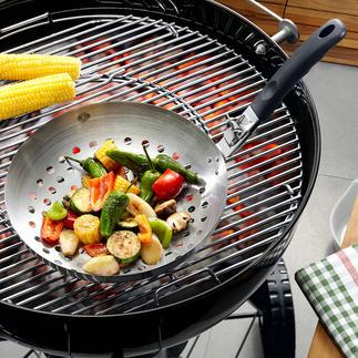 Barbecue-wok Overheerlijk uit de barbecue-wok: lichte groenten voor als bijgerecht.