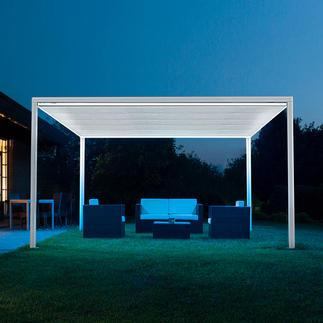 Vrijstaand paviljoen Tot 16 m² (!) schaduw – met één druk op de knop, eenvoudig en snel.