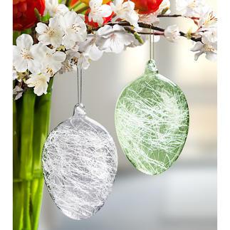 Glasdraad-paaseieren Zeldzaam mooi: paaseieren met glasdraadvulling.