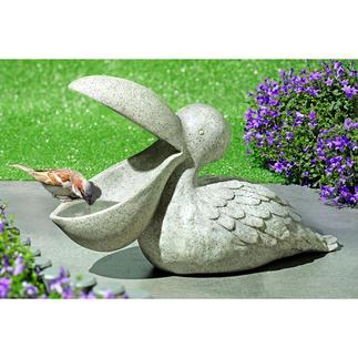 Vogelbad Pelikaan Een bijzondere tuindecoratie en een perfecte pauzeplek voor vinken, mezen & meer.
