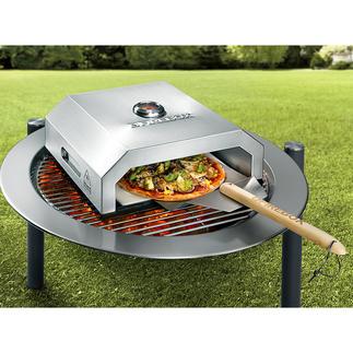 Pizza-oven Firebox Bak originele steenovenpizza's als bij de Italiaan, zonder gedoe en in enkele minuten.