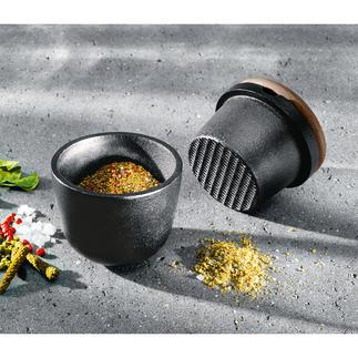 Skeppshult gietijzeren vijzel Massief gietijzer maalt kruiden veel gemakkelijker en nauwkeuriger. Gemaakt van natuurlijke materialen.