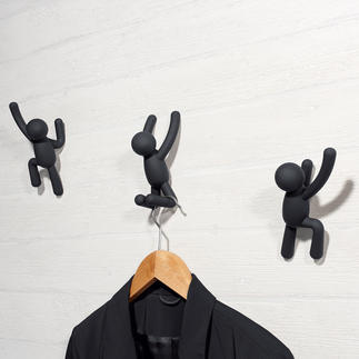 Kapstokhaak 'Klimmer', 3-delige set Modern kunstobject of artistieke kapstok? Beide!