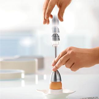 Eiertikker met zoutstrooier Met geïntegreerde zoutstrooier. Werkt betrouwbaar – elke keer.