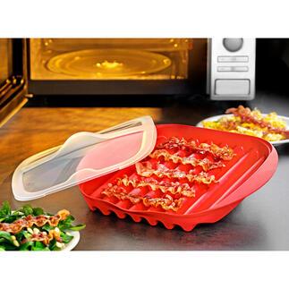 Baconschaal voor de magnetron Knapperige bacon – sneller en eenvoudiger dan ooit.