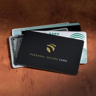 RFID Secure-Card Zelfs op een afstand van 3 cm kan niemand uw gevoelige gegevens meer herkennen.