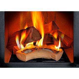 Herbruikbaar aanmaakblok voor de open haard Van CeraFlam®-keramiek die warmte vasthoudt. Met de hand gemaakt in Duitsland.Steeds opnieuw te vullen.
