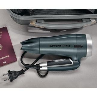 CARRERA compacte haardroger No 532 De hightech-functies van een grote haardroger, in een superlicht compact formaat.