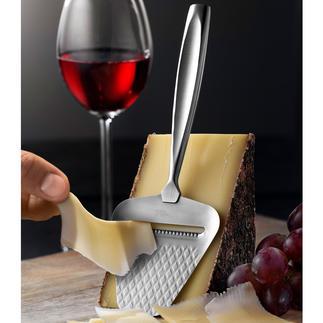 Boska kaasschaaf Monaco+ Glijdt nog lichter en haalt dunne plakken van elke snijbare kaas, zonder dat er iets blijft plakken.