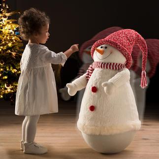 Tuimelsneeuwpop Deze sneeuwpop wil iedereen steeds weer aanraken.